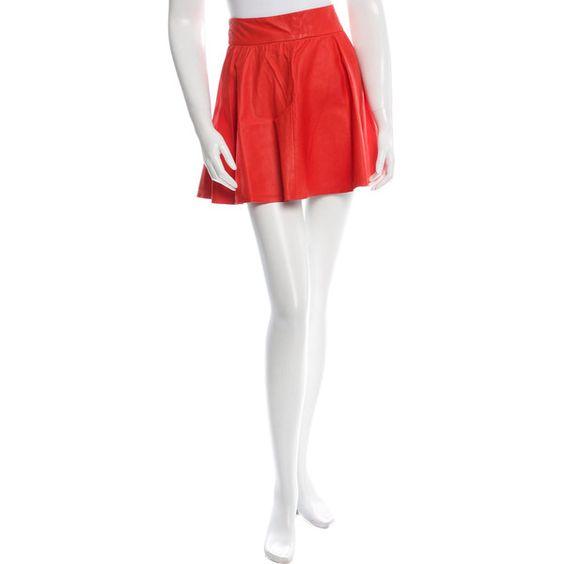Pre-owned Alice   Olivia Leather Mini Skirt ($95) ❤ liked on ...