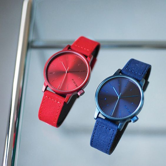 The new Winston Heritage Red and Blue. Available at www.komono.com and stores near you.