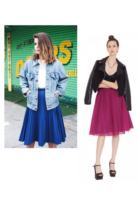 Collage Vintage: falda midi