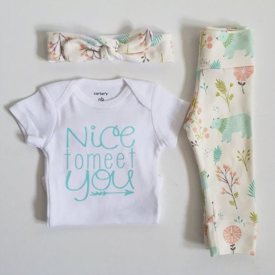 Bringing home baby outfit newborn baby by PaisleyPrintsSpokane