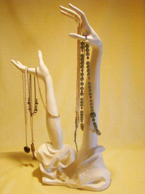Jewelry Necklace Display Stand Art Sculpture Ceramic by samsaw313, $75.00 |  this is my love song, it goes like this... | Pinterest | Puut,Keramiikka ja  ...