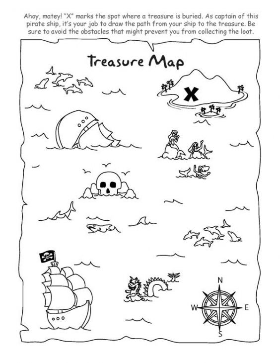 Coloring Prints Online And Pictures On Pinterest Treasure Map Coloring Page