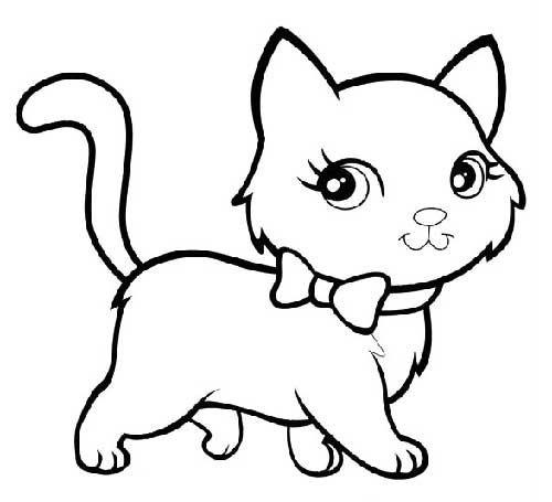 Desenhos de Gatinhos para Colorir - Coletânea de Imagens para ...