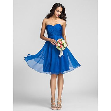 A-ligne sweetheart genou longueur robe de demoiselle d'honneur (722115) - USD $ 79.19