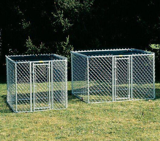 Archie Oscar Derek Steel Chain Link Portable Yard Kennel Reviews Wayfair Steel Chain Discount Pet Supplies Kennel