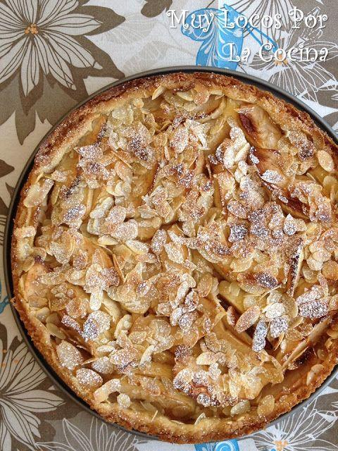 Tarta De Manzanas Y Almendras Laminadas Con Relleno De Queso Receta Tarta De Manzana Tartas Cocina De Pollo