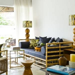 Love the color furniture bamboo rattan wicker cane furniture eco friendly materials for Sustainable interior materials