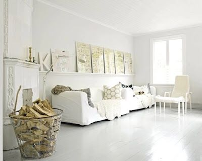 White vintage cottage chic...I think I would add a seagrass rug.