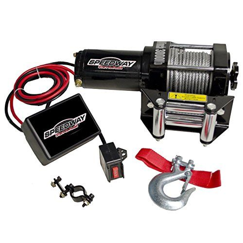 Speedway 7253 3000pound Line Pull Capacity Electric Winch Black See This Great Product Electric Winch Speedway Winch