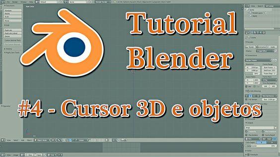 Tutorial Blender #4 - Cursor 3D e objetos