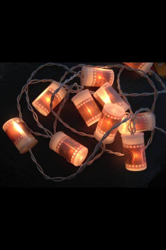 Lomography genius: put film canisters over lights with negatives on the inside. Have to do this for Christmas this year :)