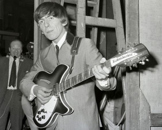 George Harrison's Rickenbacker 12-string. The Beatles' resident guitar guru was well-known for playing a Gretsch, too, but perhaps his most iconic guitar was his chiming 1963 Rickenbacker 12-string. The company owner gave the guitar to the group on their first U.S. tour, and Harrison fell in love with it immediately.