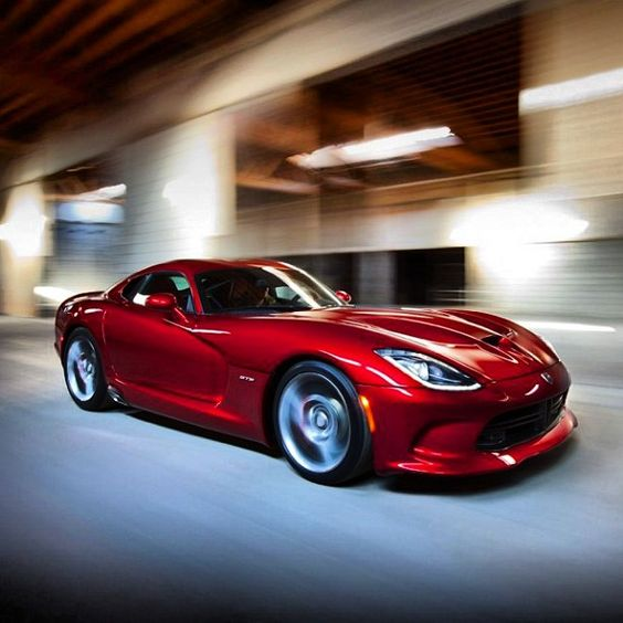 2013 SRT Viper in motion via carhoots.com  $97,395 8.4 liter v-10 engine 640 horse power. The most torque of any naturally aspirated engine currently produced