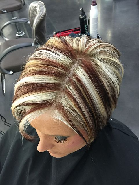 Chunky Highlights Short Hair Highlights Short Hair Styles Chunky Blonde Highlights