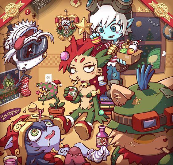 Xmas Zyra And Yordles By Gramoxon.deviantart.com On