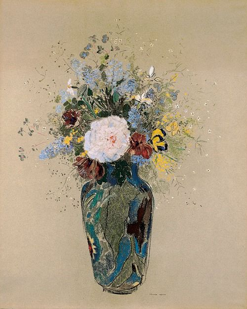 "Odilon Redon ""Vase of Flowers"" 1909 -1916"
