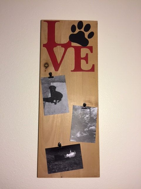 Dog photo memory board personalized sign dog by CraftedSimplyInc