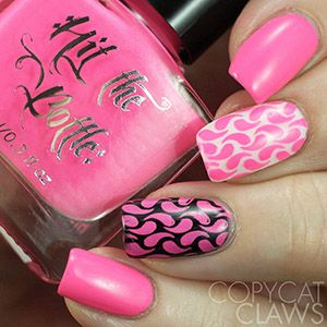 "Hit the Bottle ""I Pink, Therefore I Am"" Neon Stamping Polish"