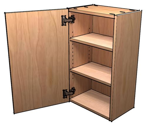 How to build frameless wall cabinets for the wall near for Building kitchen cabinets