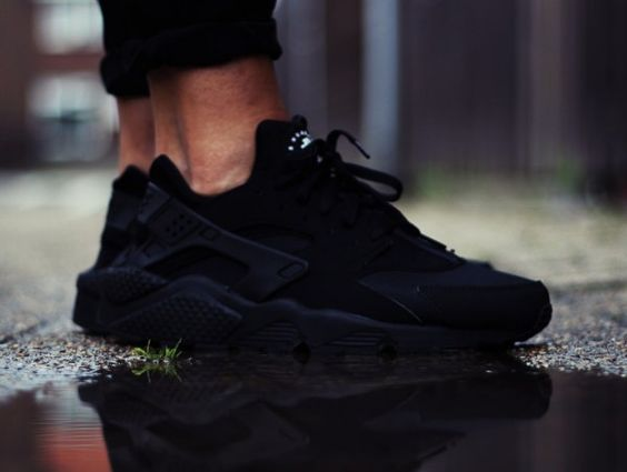Mens Nike Air Huarache Black