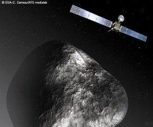 Cometa 67P/Churyumov-Gerasimenko, espaçonave vai pousar em sua superfície…
