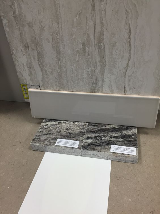 Rocky White Granite : Exquisite chantilly tile on floor white cabinets
