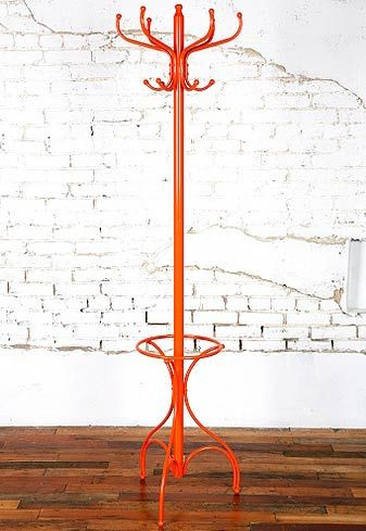 thinking of something like this for a coat holder in our new home,maybe with a different base and not orange