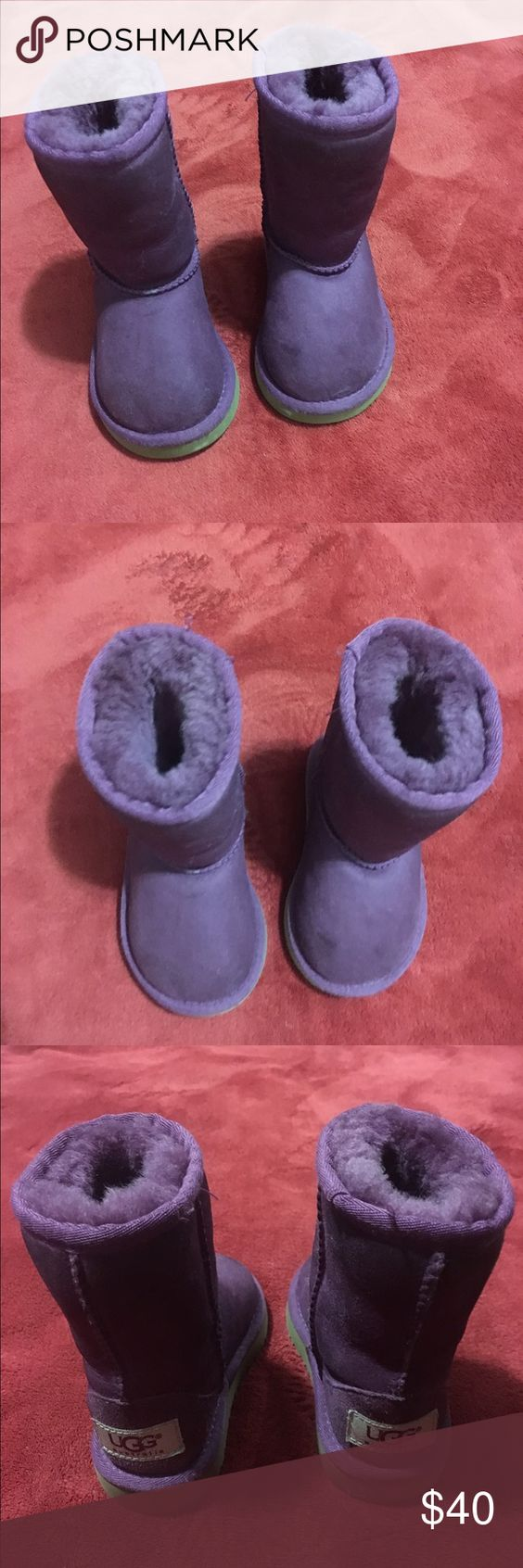 Baby Girl Ugg Boots Beautiful boots. 100% authentic. Used but are in perfect condition with a lot of life left UGG Shoes Ankle Boots & Booties