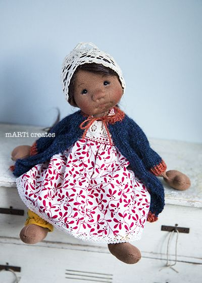 Alina - Cloth Art Doll by mARTi creates - 10.5''