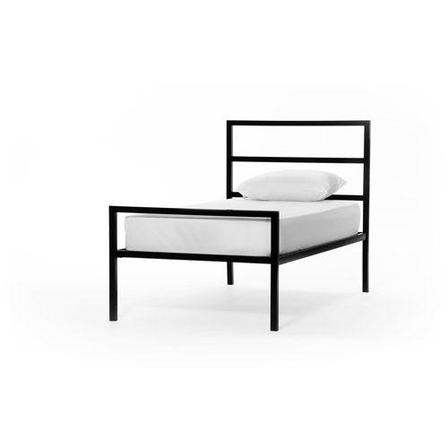 Mainstays Twin Parsons Bed, Black   Limpia, Gemelo y Metales