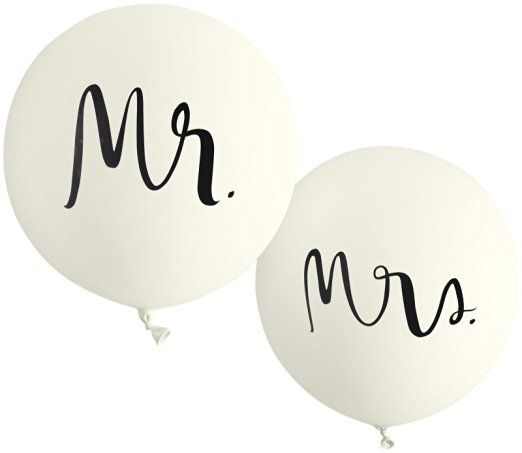 kate spade new york Bridal Balloons, Mr. & Mrs.