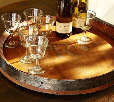 Barrel Top Lazy Susan to set the film lanterns on so each table can see them from all sides.