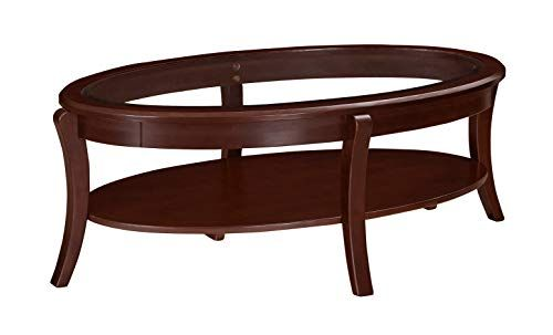 New Ravenna Home Traditional Solid Pine Coffee Table 19 H Black