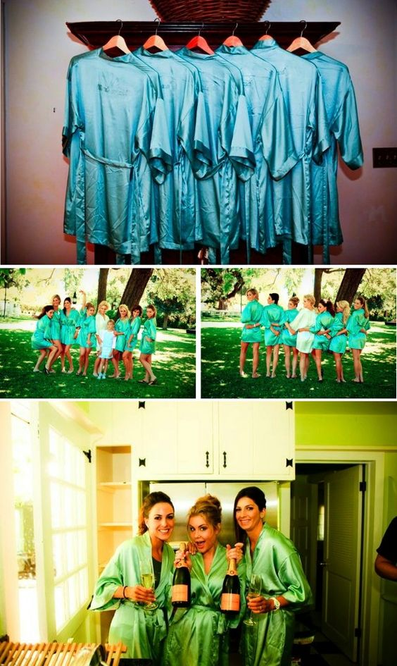 Bridal party robes - not a bad idea for a gift and photo opps!