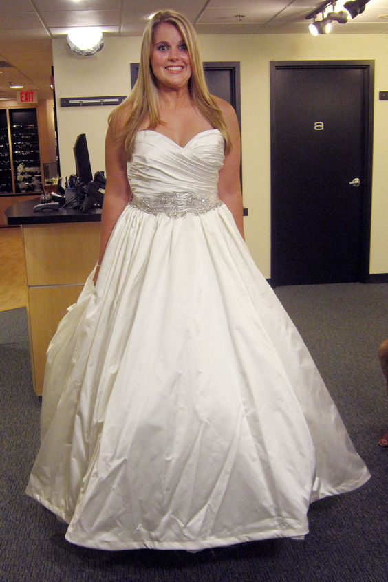 Collection Satin Ball Gown Wedding Dress Pictures - Weddings Pro