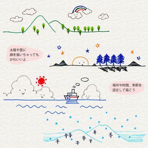 Varie illustrazioni del paesaggio