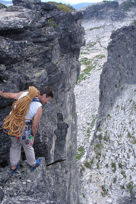 Climbing Chimney Rock in north Idaho's Selkirk Mountains is not for the fainthearted.: