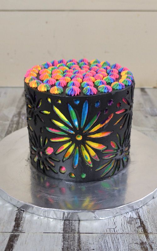 I had this cake on my mind for several months. Last month I finally ordered new pottery tools. I whipped up Swiss buttercream and baked 6 inch cakes. I made a Rainbow Flower Scratch Art Cake. This was my first attempt and it turned out so colorful and really pretty. I hope you like ... Read More about Rainbow Flower Scratch Art Cake
