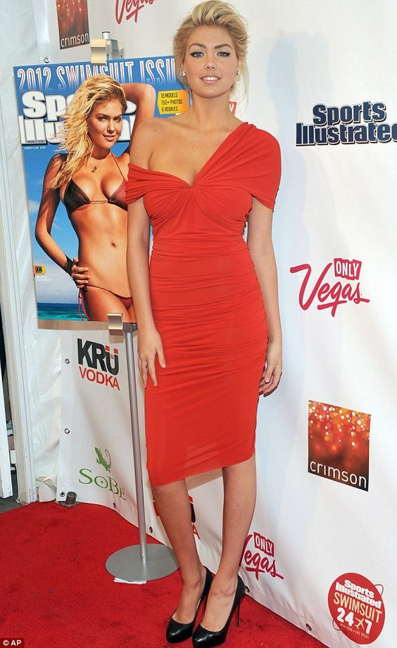 kate upton's red dress
