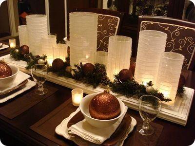 Centro de mesa para navidad navidad y mesas - Centro de mesa de comedor moderno ...