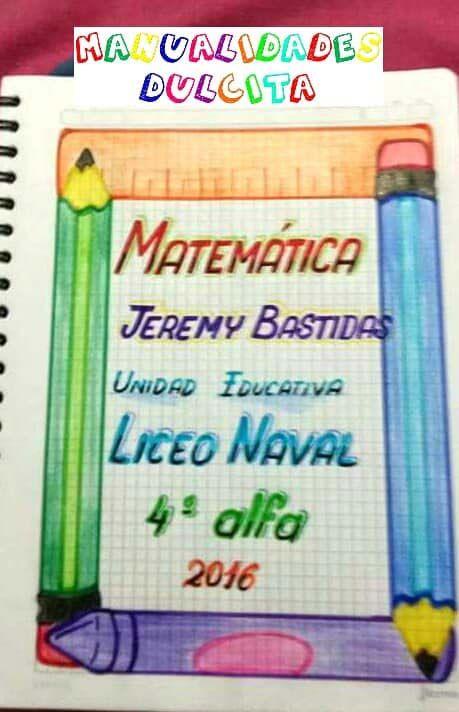 57 Caratulas Para Cuadernos De Matematicas Faciles De Dibujar Foros Ecuador Bullet Journal Notebook Journal