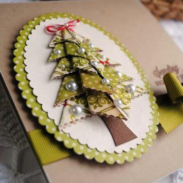 Couverture carte noel origami