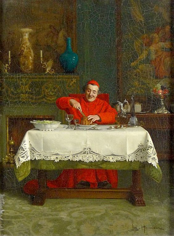 Leo Herrmann (1853-1927) — Lunchtime (591x800):