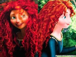 Merida in original movie,and in sofia the first.