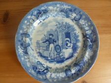 Rogers pearlware blue and white transferware plate circa 1820-30