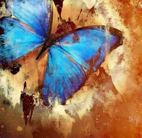 Pintura con mariposa  Foto de archivo - 2120685