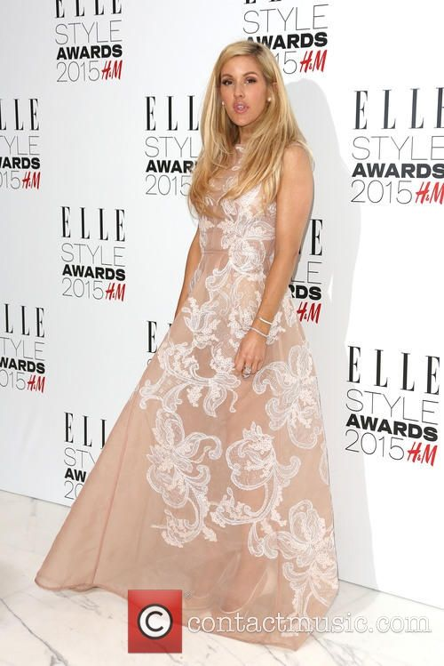 Ellie goulding stunned in this sheer, Alberta Ferretti dress at the ELLE Style Awards 2015
