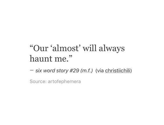It still haunts me