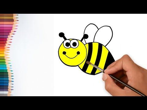 Coloring For Kids I Drawing Bee Youtube Coloring For Kids My Drawings Kids Artwork