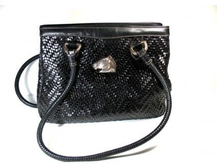 Kieselstein-Cord excellent (EX) Keiselstein-Cord Black Leather Woven Tote Bag on shopstyle.com
